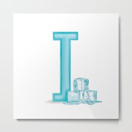 I is for Ice Metal Print