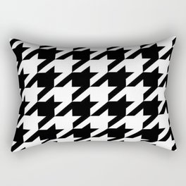 retro fashion classic modern pattern black and white houndstooth Rectangular Pillow