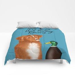 Nova Scotia Duck Trolling Retriever (Blue) Comforters