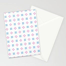 four lines 9 Blue and pink Stationery Cards