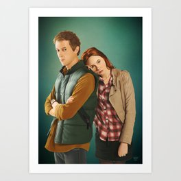 Doctor Who - Rory and Amy Art Print