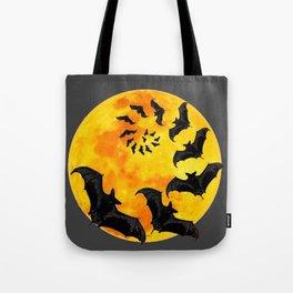 HALLOWEEN BAT INFESTED HAUNTED MOON ART DESIGN Tote Bag