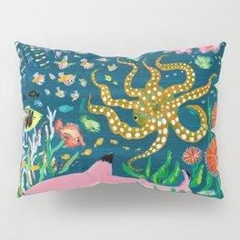 Pink Shark Pillow Sham