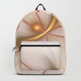 Nobly In Gold And Copper, Fractal Art Backpack