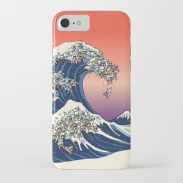 The Great Wave of English Bulldog iPhone Case