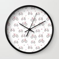 bikes Wall Clocks featuring bikes by ilusland .:. marcelo BAdARI