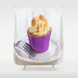 Banoffee Cupcake Shower Curtain