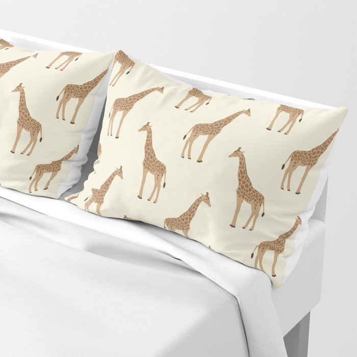 Giraffe Animal Minimal Modern Pattern Basic Home Dorm Decor Nursery Safari Patterns Pillow Sham By Charlottewinter