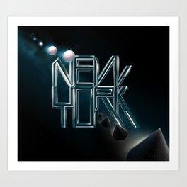 Typographic poster Art Print
