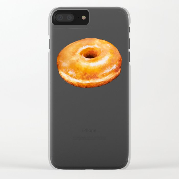 Donut Pattern - Glazed Clear iPhone Case