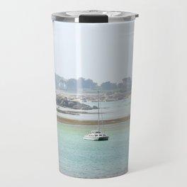 Walking on the shore Travel Mug