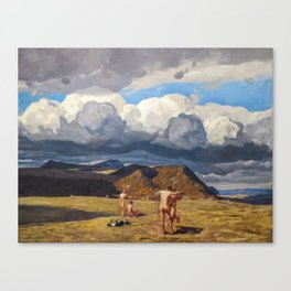 Men and Mountains by Rockwell Kent, 1909 Canvas Print