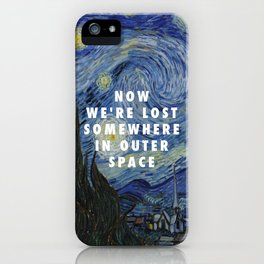 Vincent van Gogh, The Starry Night (1889) / Halsey, Coming Down (2015) iPhone Case