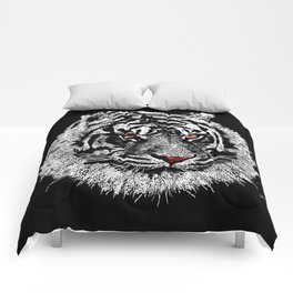 white tiger iPhone 4 4s 5 5c 6 7, pillow case, mugs and tshirt Comforters