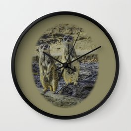 A couple of meerkats Wall Clock