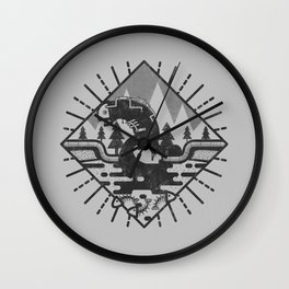 Monster Oil Wall Clock