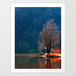 Gone fishing | waterscape photography Art Print