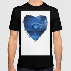 Trail to the heart Black Mens Fitted Tee MEDIUM
