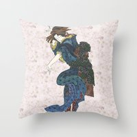 japanese Throw Pillows featuring japanese by Maria Durgarian