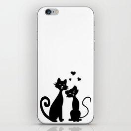 Cat Love (Lights) iPhone Skin
