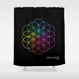 A head full of dreams Shower Curtain