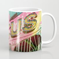 circus Mugs featuring Circus by Cassia Beck