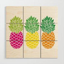Pineapple Trio Wood Wall Art