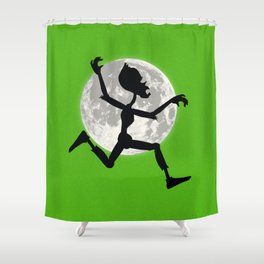 Friendly Zombie On The Go - Run Shower Curtain
