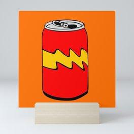Red Orange & Yellow Cartoon Soda Can Colourful Simple Art Mini Art Print