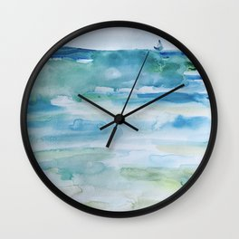 Miami Beach Watercolor #1 Wall Clock