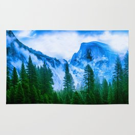 the mountains Rug