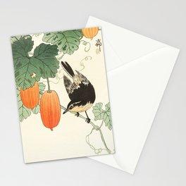 Ohara Koson, Bird Sitting On The Tree - Japanese Vintage Woodblock Print Stationery Cards