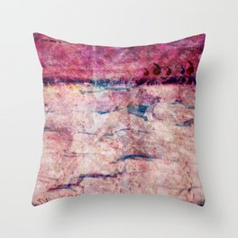 Pink landscape Throw Pillow