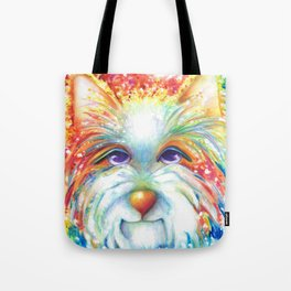 West Highland White Terrier Westie Dog Winston abstract dog art Tote Bag