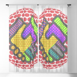 Friendship is Freedom - Dots Sheer Curtain