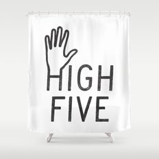 High Five Shower Curtain