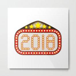 2018 Movie Theatre Marquee Metal Print