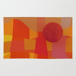 Red Hot Sun Rug