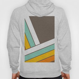 Retro 70s Stripes  -  Abstract Geometric Design Hoody