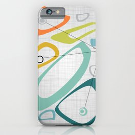 Mid Century Modern Art 01 iPhone Case