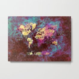 world map 29 Metal Print