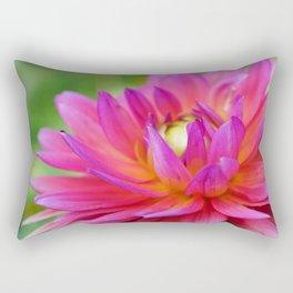 Bright Pink Dahlia Flower Close-Up (2 of 4) Rectangular Pillow