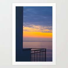 Balcony on the sea Art Print