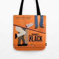 oitnb Tote Bags featuring OITNB by MLauxDesign