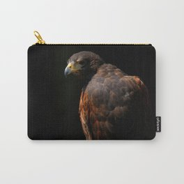 Hawk Out Of The Shadows | Harris Hawk | Wildife Photography Carry-All Pouch