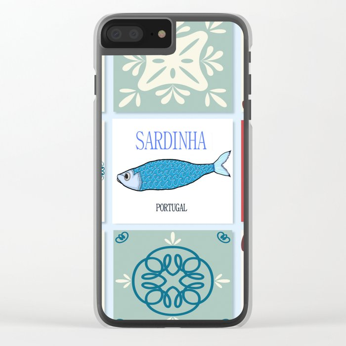 Sardines azulejos Clear iPhone Case