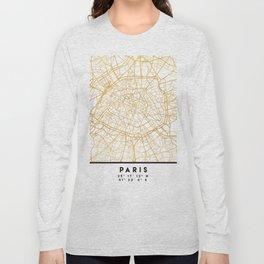 PARIS FRANCE CITY STREET MAP ART Long Sleeve T-shirt