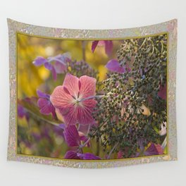 FADED LACECAP HYDRANGEA IN MORNING LIGHT Wall Tapestry