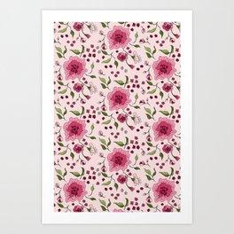Floral Rose 0023  Art Print