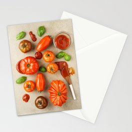 Tomatoes for tomato ketchup Stationery Cards
